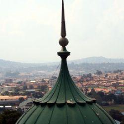 dall'alto della moschea a Kampala