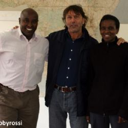con John Muiruri addetto stampa Amref - reportage Kenya