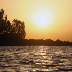 tramonto sul Niger