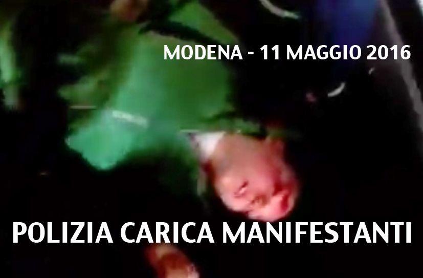 11 maggio 2016 Modena - guerriglia urbana