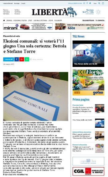 Bettola è l'unica certezza: Stefano Torre