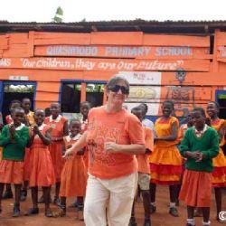 Cristina alla Quasimodo Primary school a Kampala