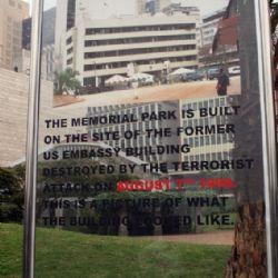 in memoria all'attentato dell'ambasciata americana