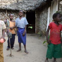 bambini al villaggio di Muyeye