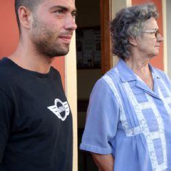 Nicolò all'orfanotrofio con Maria