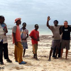 spiaggia di Malindi con Bruno Portabene