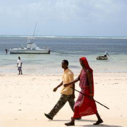 masai sulla spiaggia di Malindi
