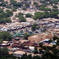 veduta aerea di Bamako