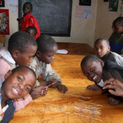 bambini alla Paolo's house - Kibera