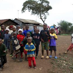 bambini allo slum di Soweto