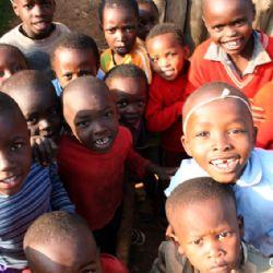 bambini allo slum di Nyeri