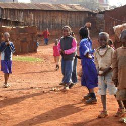 allo slum di Nyeri con Sanson