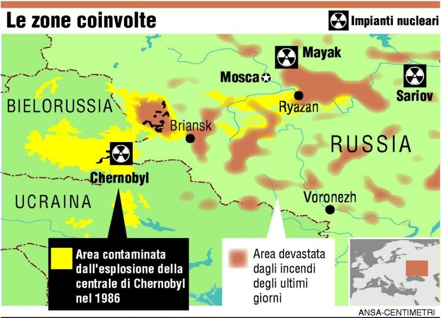 cartina Chernobyl