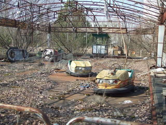il paesaggio dopo l'esplosione