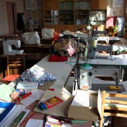 sala del cucito dell'orfanotrofio