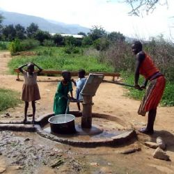 un pozzo d'acqua di Africa Mission in Karamoja